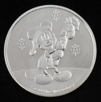 2020 Niue 1 oz Silver $2 Disney Mickey Mouse Christmas Coin at PristineAuction.com