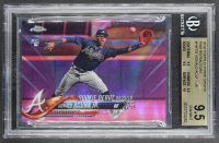 Ronald Acuna Jr. 2018 Topps Chrome Update Pink Refractors #HMT31 (BGS 9.5) at PristineAuction.com