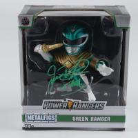 "Jason David Frank Signed Mighty Morphin Power Rangers Green Ranger Metalfigs Figurine Inscribed ""Tommy"" (Beckett COA) at PristineAuction.com"