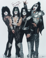 Eric Singer & Tommy Thayer Signed Kiss 15.5x20 Poster (Beckett COA) at PristineAuction.com
