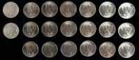 Set of (20) 1923 Peace Silver Dollars with Case at PristineAuction.com