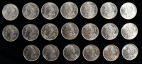Roll of (20) 1921 BU Morgan Silver Dollars with Case at PristineAuction.com