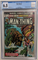 "1974 ""Man-Thing"" Issue #3 Marvel Comic Book (CGC 6.5) at PristineAuction.com"