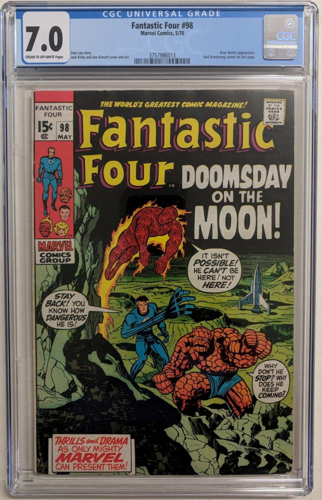 "1970 ""Fantastic Four"" Issue #98 Marvel Comic Book (CGC 7.0) at PristineAuction.com"