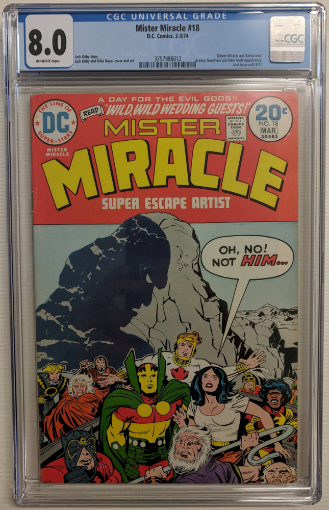 """1974 """"Mister Miracle"""" Issue #18 DC Comic Book (CGC 8.0) at PristineAuction.com"""