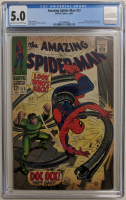 "1967 ""Amazing Spider-Man"" Issue #53 Marvel Comic Book (CGC 5.0) at PristineAuction.com"