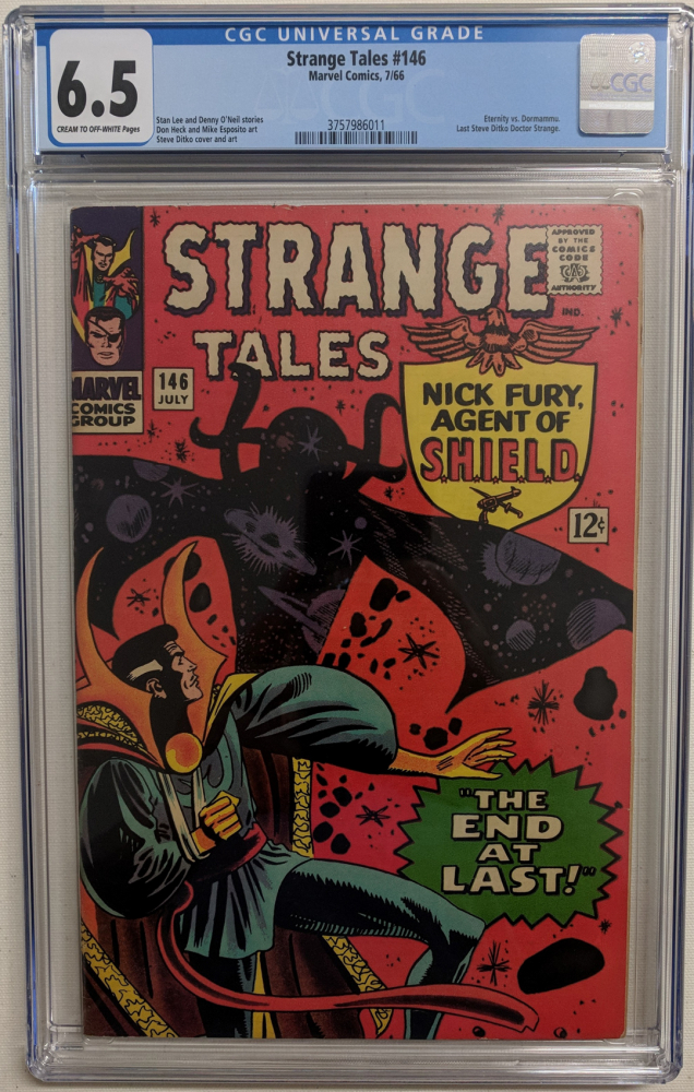 """1966 """"Strange Tales"""" Issue #146 Marvel Comic Book (CGC 6.5) at PristineAuction.com"""