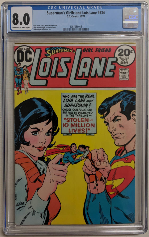 """1973 """"Superman's Girlfriend Lois Lane"""" Issue #134 DC Comic Book (CGC 8.0) at PristineAuction.com"""