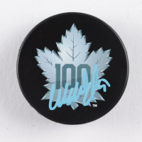 Wendel Clark Signed Leafs 100th Anniversary Logo Hockey Puck (COJO COA) at PristineAuction.com