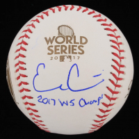 "Evan Gattis Signed 2017 World Series Baseball Inscribed ""2017 WS Champs"" (Beckett COA) at PristineAuction.com"