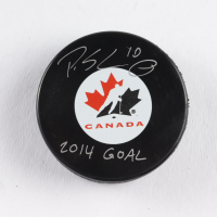 "Patrick Sharp Signed Team Canada Logo Hockey Puck Inscribed ""2014 Goal"" (COJO COA) at PristineAuction.com"