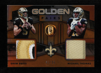 Drew Brees / Michael Thomas 2019 Panini Gold Standard Golden Pairs Jerseys Prime #9 at PristineAuction.com