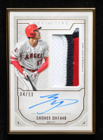 Shohei Ohanti 2019 Topps Definitive Collection Framed Autograph Patches Gold #FACSO at PristineAuction.com