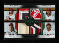 Justin Upton / Albert Pujols / Shohei Ohtani / Mike Trout2020 Topps Museum Collection Primary Pieces Four Player Quad Relics Emerald #FPRTPOU at PristineAuction.com