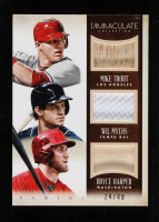 Wil Myers / Bryce Harper / Mike Trout 2014 Immaculate Collection Immaculate Trios Players Memorabilia #4 at PristineAuction.com