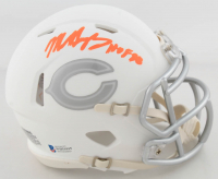 "Mike Singletary Signed Bears White ICE Speed Mini Helmet Inscribed ""HOF 98"" (Beckett COA) at PristineAuction.com"