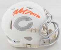 "Mike Singletary Signed Bears White ICE Speed Mini Helmet Inscribed ""HOF 98"" (Beckett COA) at PristineAuction.com"