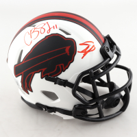 Cole Beasley & Stefon Diggs Signed Bills Lunar Eclipse Alternate Speed Mini-Helmet (Beckett Hologram) at PristineAuction.com