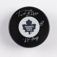"""Ron Ellis Signed Maple Leafs Logo Hockey Puck Inscribed """"67 Cup"""" (COJO COA) at PristineAuction.com"""