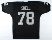 "Art Shell Signed Jersey Inscribed ""HOF 89"" (JSA COA) at PristineAuction.com"