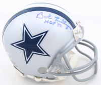 "Bob Lilly Signed Cowboys Mini-Helmet Inscribed ""HOF '80"" (Beckett Hologram) at PristineAuction.com"