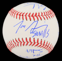 """The Sandlot"" OML Baseball Cast-Signed By (6) with Tom Guiry, Chauncey Leopardi, Marty York, Victor Di Mattia with Multiple Inscriptions (Beckett COA) at PristineAuction.com"