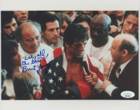 "Burt Young Signed ""Rocky"" 8x10 Photo Inscribed ""All The Best!"" (JSA COA) at PristineAuction.com"