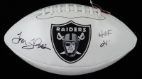 "Tom Flores Signed Raiders Logo Football Inscribed ""HOF 21'"" (JSA COA) (See Description) at PristineAuction.com"