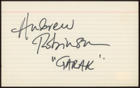 "Andrew Robinson Signed 5x8 Index Card Inscribed ""Garak"" (JSA COA) at PristineAuction.com"