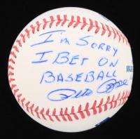 "Pete Rose Signed OML Baseball Inscribed ""I'm Sorry I Bet On Baseball"" (Fiterman Hologram & JSA COA) at PristineAuction.com"