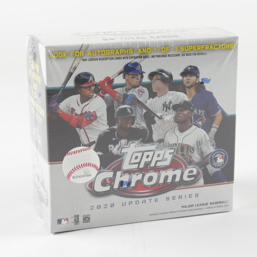 2020 Topps Chrome Update Baseball Mega Box with (7) Packs at PristineAuction.com