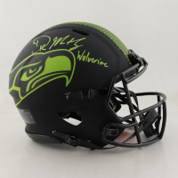 "DK Metcalf Signed Seahawks Full-Size Authentic On-Field Eclipse Alternate Speed Helmet Inscribed ""Wolverine"" (Beckett COA) (See Description) at PristineAuction.com"