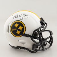 Chase Claypool Signed Steelers Lunar Eclipse Alternate Speed Mini Helmet (Beckett Hologram) at PristineAuction.com