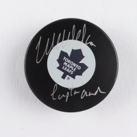 """Wendel Clark Signed Mapple Leafs Logo Hockey Puck Inscribed """"Captain"""" (COJO COA) at PristineAuction.com"""