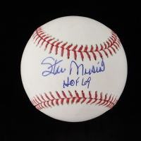 "Stan Musial Signed OML Baseball Inscribed ""HOF 69"" (SportsMemorabilia Hologram & Jackson Hologram) at PristineAuction.com"