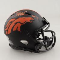 "Terrell Davis Signed Broncos Eclipse Alternate Speed Mini Helmet Inscribed ""HOF 17"" (Beckett Hologram) at PristineAuction.com"