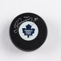 Borje Salming Signed Maple Leafs Logo Hockey Puck (COJO COA) at PristineAuction.com