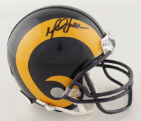 Marshall Faulk Signed Rams Throwback Mini Helmet (Beckett Hologram) at PristineAuction.com