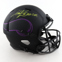 """Adrian Peterson Signed Vikings Full-Size Eclipse Alternate Speed Helmet Inscribed """"All Day"""" (Beckett COA) at PristineAuction.com"""