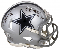 """Larry Brown Signed Cowboys Speed Mini Helmet Inscribed """"S.B. XXX MVP"""" (Beckett Hologram) at PristineAuction.com"""