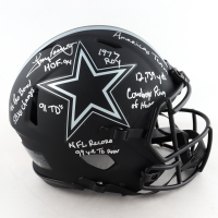 Tony Dorsett Signed Cowboys Full-Size Authentic On-Field Eclipse Alternate Speed Helmet with Multiple Inscriptions (Beckett COA) (See Description) at PristineAuction.com