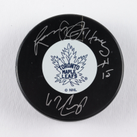 "Larry Jeffrey Signed Maple Leafs Logo Hockey Puck Inscribed ""67 Cup"" (COJO COA) at PristineAuction.com"