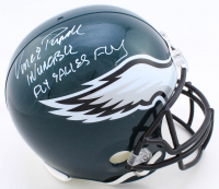 """Vince Papale Signed Eagles Full-Size Helmet Inscribed """"Invincible"""" & """"Fly Eagles Fly"""" (Beckett COA) at PristineAuction.com"""