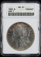 1889 Morgan Silver Dollar - VAM-1 (ANACS MS61) (Toned) at PristineAuction.com