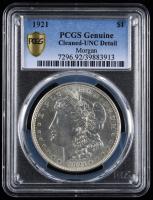 1921 Morgan Silver Dollar (PCGS UNC Details) at PristineAuction.com