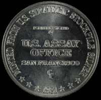 1981 U.S. Assay Office San Francisco 1 oz. Fine Silver Bullion Round at PristineAuction.com