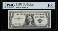 1957A $1 Blue Seal Silver Certificate Bank Note (PMG Choice Uncirculated 63 EPQ) at PristineAuction.com