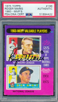 Roger Maris Signed 1975 Topps #198 MVP (PSA Encapsulated) at PristineAuction.com