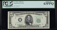 1950A $5 Philadelphia Federal Reserve Bank Note (PCGS Choice New 63 PPQ) at PristineAuction.com