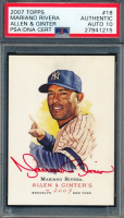 Mariano Rivera Signed 2007 Topps Allen and Ginter #18 (PSA Encapsulated) at PristineAuction.com
